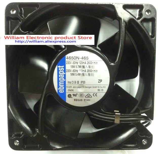 New Original German EBMPAPST AC230V 19W 12038 axial flow cooling fan new original german ebmpapst 4606n 120 38mm ac110v 0 23a 20w high temperature axial radiator cooling fan