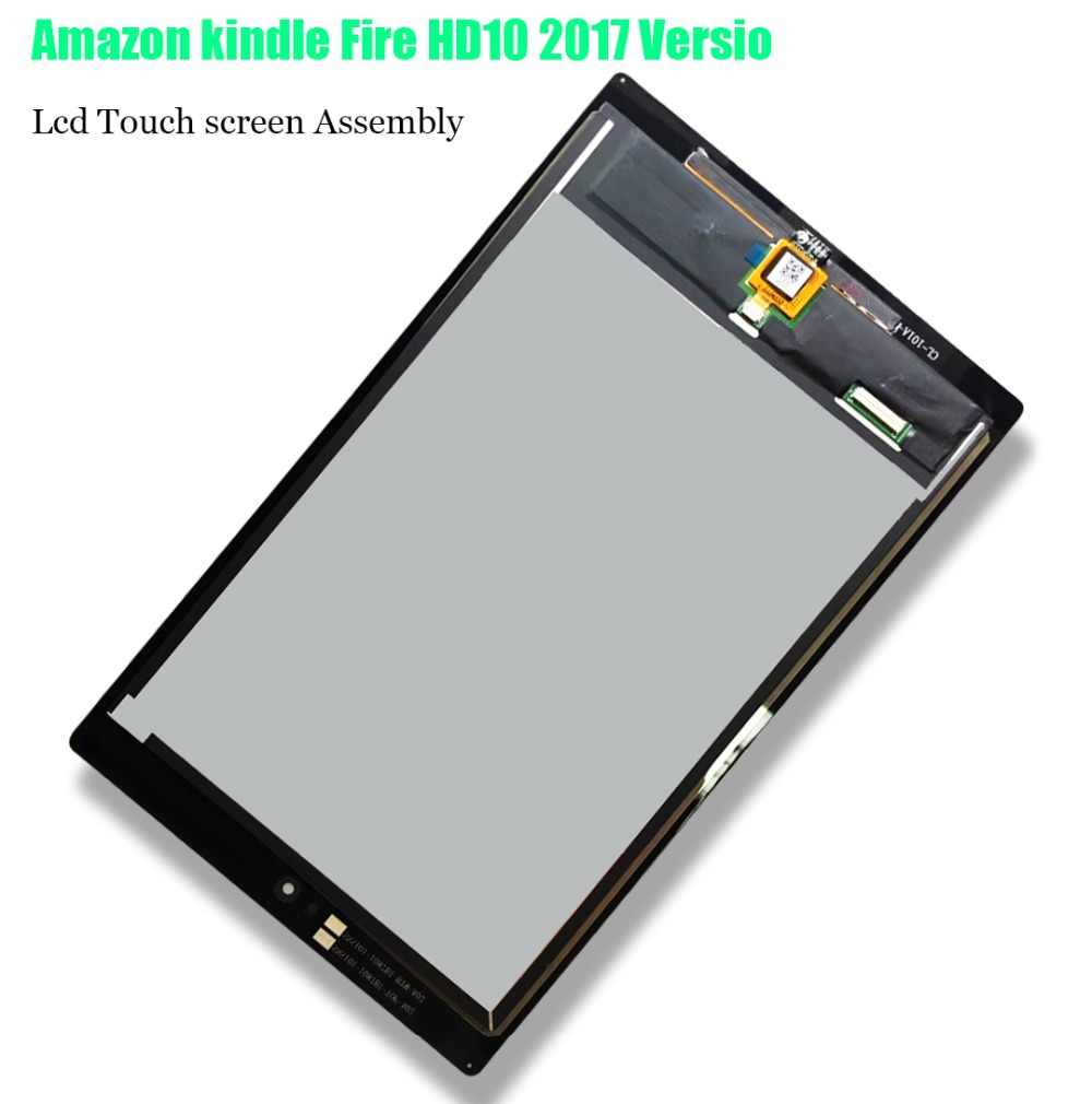 100% nuevo para Amazon kindle Fire HD10 2017 SL056ZE versión LCD pantalla táctil digitalizador para Amazon kindle Fire HD 10 2017