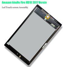 6b086361a35 100% nuevo para Amazon kindle fuego HD10 2017 versión 10,1 pantalla LCD pantalla  táctil digitalizador para Amazon kindle Fire HD.