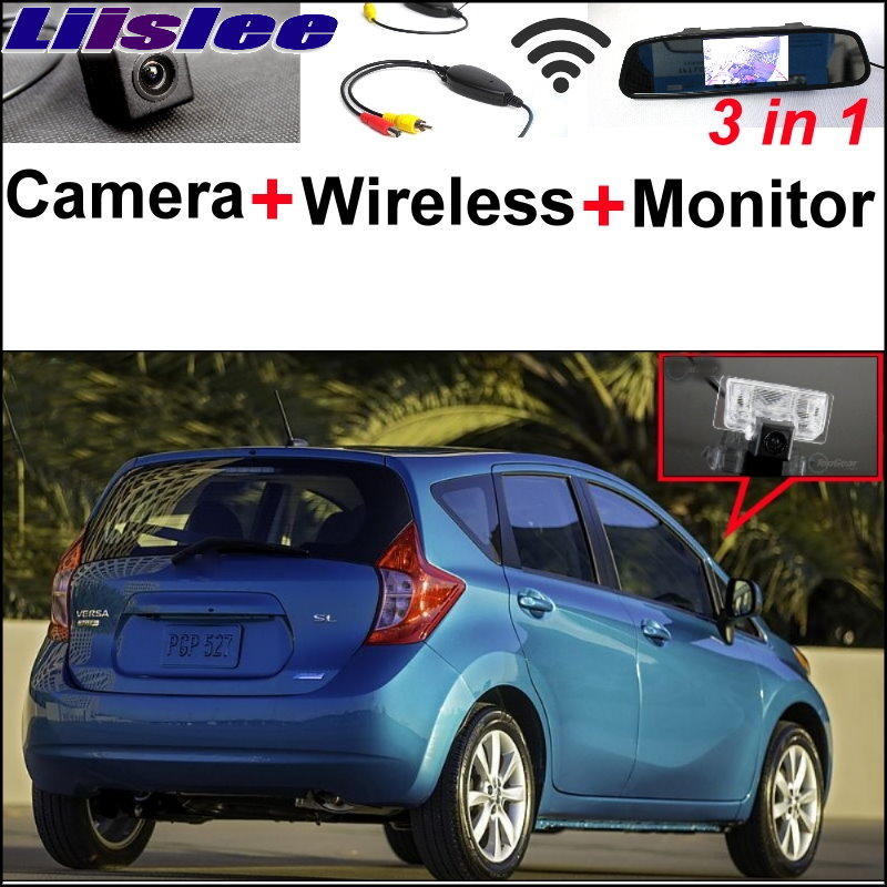 Liislee 3 in1 Special Camera + Wireless Receiver + Mirror Monitor Easy Back Up Parking System For Nissan Versa Note 2013~2017 tlt beach party