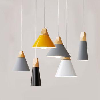 LukLoy Wood Pendant Lights LED Kitchen Lights LED lamp Bedside Hanging Lamp Ceiling Lamps Lighting Fixtures Bedroom Living Room