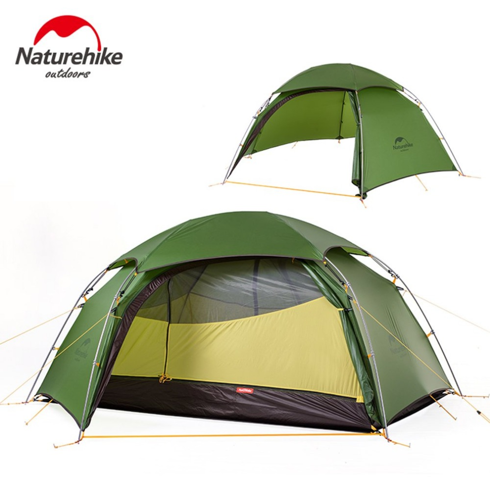 Naturehike Outdoor Camping Tent Ultralight 2 Persons Tent Hiking Climbing Windproof Rainproof Aluminum Rod Waterproof Coating naturehike 3 4 5 8 persons large family tent pyramid waterproof outdoor camping hiking triangle tent simple indian tent