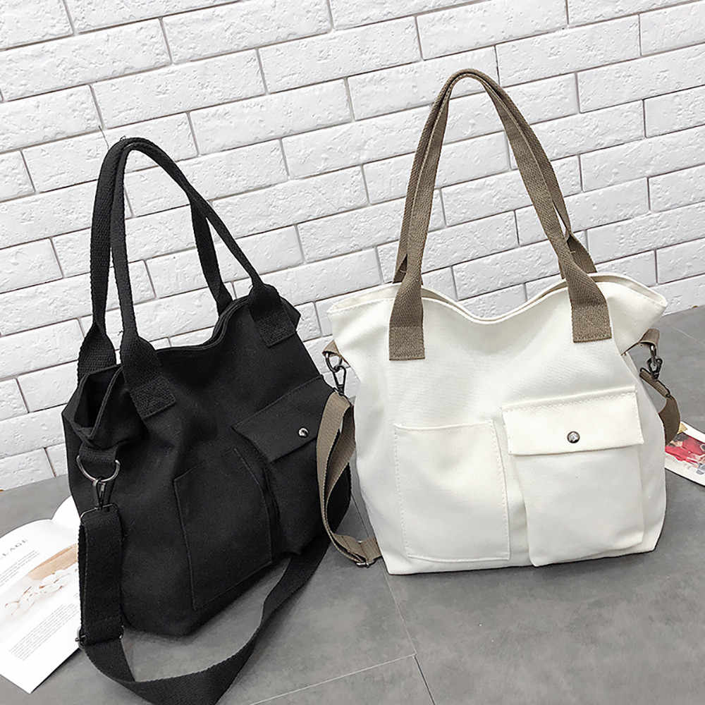 Canvas Handbags Women Men Ping Bags