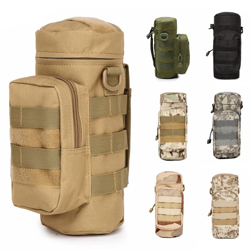 CQC Outdoors Molle Water Bottle Pouch Military Airsoft Tactical Gear Kettle Waist Bag Climbing Hiking Hunting Water Bag