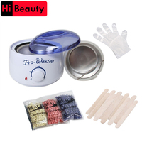 Wax Heater Wax Machine Depilatory Hair Removal Tools Pellet Waxing Painless Mens Body Hair Removal Set Beauty Device