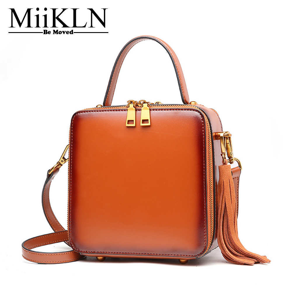 MiiKLN Brown Green Black Red Mini Small Women Ladies Flap Bag Cow Split Leather Fashion Women Handbag Crossbody Shoulder Bags 2017 fashion all match retro split leather women bag top grade small shoulder bags multilayer mini chain women messenger bags