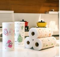 Keuken non woven wegwerp lui rag schuursponsje cleaning handdoek handdoek vaatdoek roll vormige breekpunt handdoek|Reinigingsdoeken|Huis & Tuin -