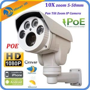 Image 1 - 1080P 10X Cơ Giới Zoom Tự Động 5 50 Mm Varifocal IP PoE 2.0MP HD ONVIF Ngoài Trời PTZ P2P camera IP Cho Camera Quan Sát NVR Cam Hệ Thống