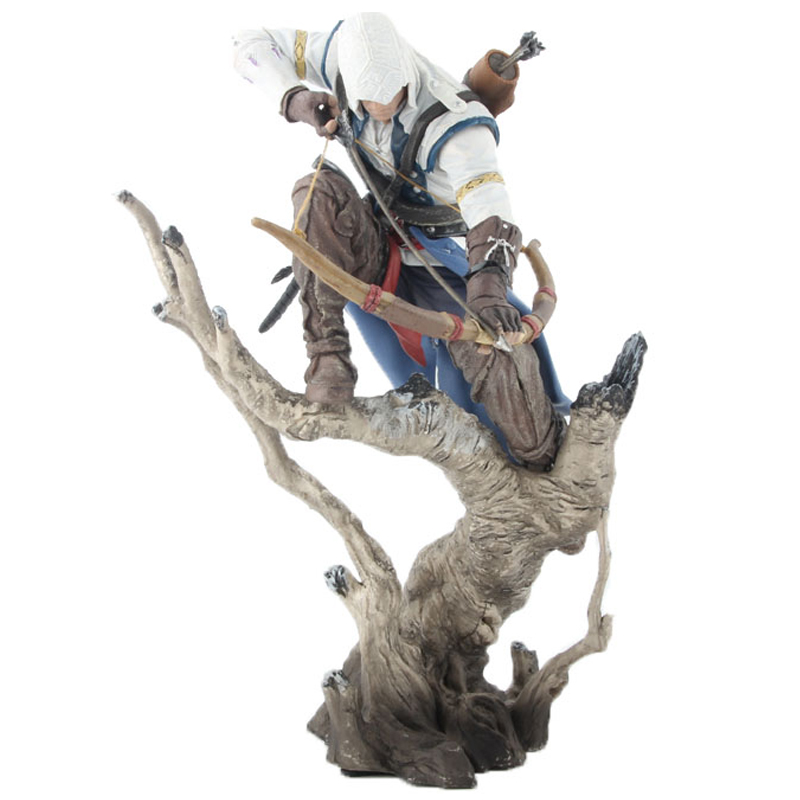 The Hunter Assassins Creed III Action Figure Assassin s Creed PVC Doll 2018 New Toys Edward Canvey 26cm