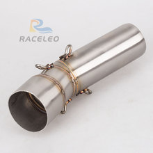 F800GS F700GS Motorcycle Exhaust Muffler Modified  link Pipe Slip-On For exhaust mid pipe