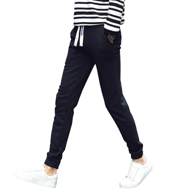 new autumn men casual pants slim fit sweatpants outwear trousers black navy M-5XL CYG112