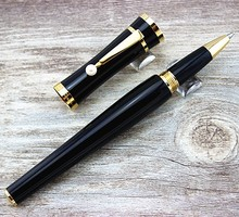 Luxury Pens Greta Garbo Special Edition roller ball Pen Black gold Screw Type Cap With Pearl Clip Flower MONTE pen Not fountain