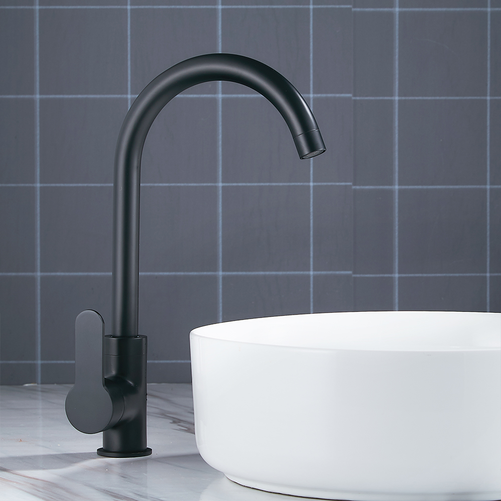 Modern Basin Faucets Black Sink Mixer Taps Kitchen Bathroom Taps Single Lever Faucet Black Basin Mixer unique single top lever waterfall basin mixer faucet gold color basin sink taps