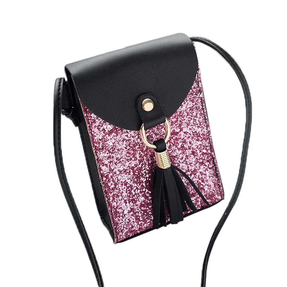 OCARDIAN Wallet Coin Purses Women Fashion Small Marvel Sequins Tassels Cover Crossbody Bag Shoulder Bag Phone Bag Dropship M4