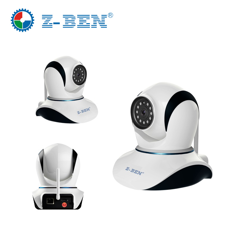 100% Original ZBEN 720P  HD IP Camera IPDH08 Wireless P2P Plug & Play IR Cut Night Vision Pan/Tilt Two Way Audio Micro SD Slot easyn a115 hd 720p h 264 cmos infrared mini cam two way audio wireless indoor ip camera with sd card slot ir cut night vision