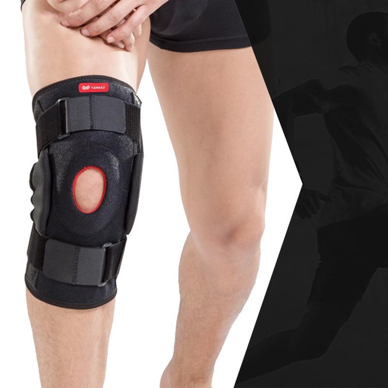 Rodillera con soporte ajustable, soporte ajustable transpirable, rodillera con correa protectora de rótula, artrítico Protector ortopédico, 1 unidad
