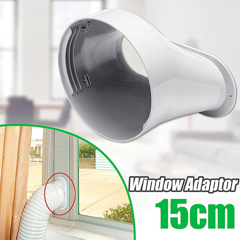 13CM PVC DURABLE WHITE WINDOW ADAPTOR FOR PORTABLE AIR CONDITIONER SPARE PARTS l