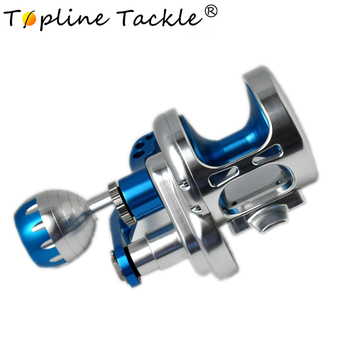 Topline Tackle 2018 TC100-500 CNC slow jigging reel boat reel 25-35kg left/right handle saltwater reel trolling reel