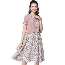4XL 5XL Pink Outfit 2 Piece Set Women Short Skirt Set Plus Size Tracksuits T Shirt Chiffon Skirt Women 2018 Summer Sets Clothes