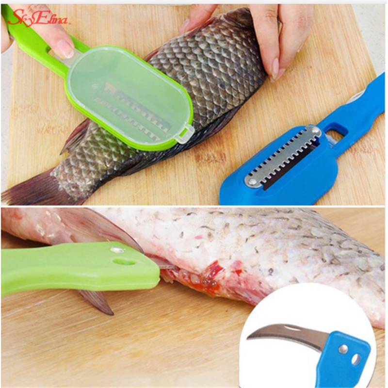 Sky Elina Multi-Function Fish Killing Scratch Scale Kitchen Cooking Fish Clean Easy Gadget 6z