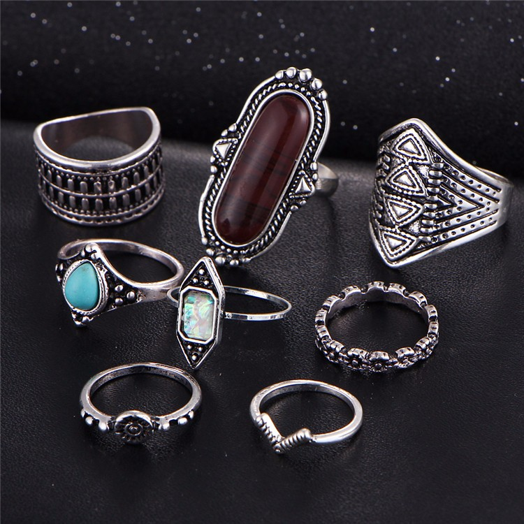 HTB1ISUQOFXXXXbEXVXXq6xXFXXXJ Tribal Boho Jewelry Set 8-Pieces Vintage Tibetan Turkish Knuckle Rings - 2 Colors