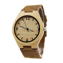 Hot Bamboo Wood Watches For Man With Multifunctional Clock High Quality Quartz Wristwatch