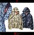 Unissex Roupas de Proteção Solar 2017 Primavera Sup Jaqueta Fina Homens Lazer Blusão Mens Supremeat Espinhos Camuflagem Menino