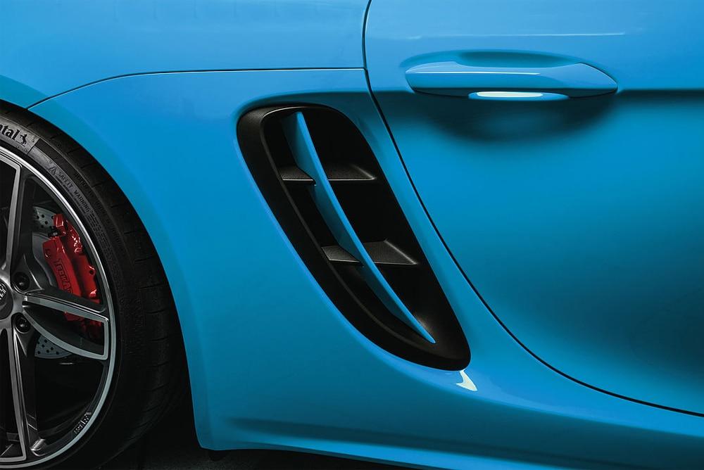 Реальные углеродного волокна боковые вентиляционные отверстия боковые Воздухозаборники вентиляционные отверстия подходят для Porsche 718 Boxster