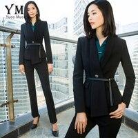 YuooMuoo New High Quality Suit Women Plus Size 5XL Blazer Set Elegant Black Business Pant Suit Ladies Office Suit Women Work Set