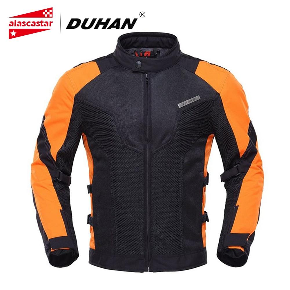 DUHAN Motorcycle Jacket Summer Men Touring Racing Moto Jacket Coat Breathable Mesh Cloth Motorbike Street Racing Clothing D-183