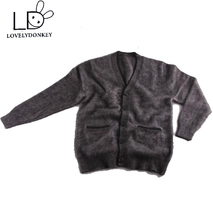 LOVELYDONKEYmink cashmere sweater men Cardigan sweater coat thick free shipping m656