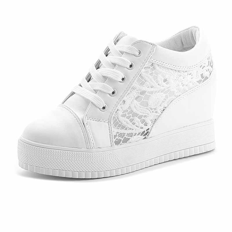 Moda Kama kadın ayakkabısı Yüksekliği Artan kadın Ayakkabı gündelik kadın ayakkabısı Ayakkabı beyaz siyah ayakkabı kadın boyutu 35-40