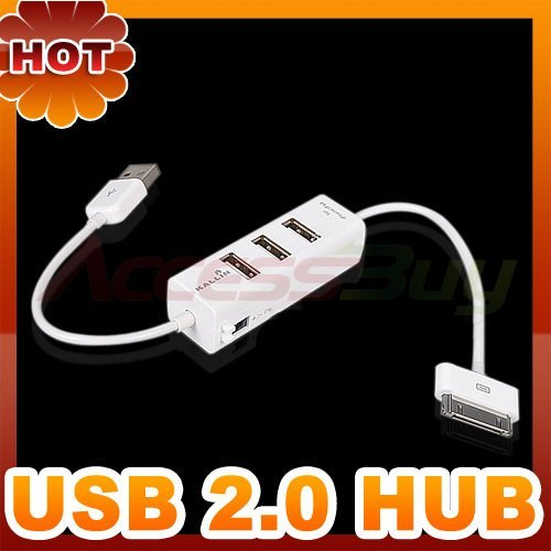 USB 2.0 Hub Charger 3 ports Hi-speed for iPhone 4G iPad iPod Charger Cable