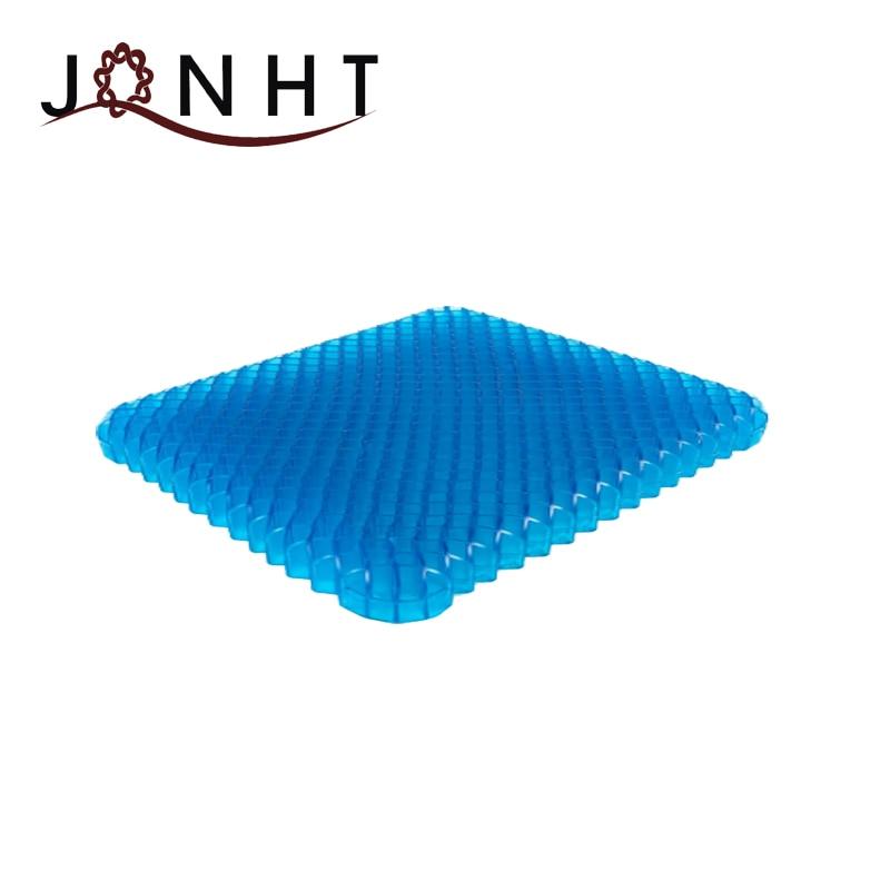 Coussin de Gel de siège bleu sans pression coussin orthopédique confort de douleur de Coccyx de voiture