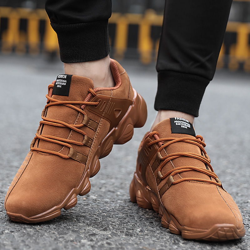 UBFEN Shoes For Men comfortable black casual Male Shoes