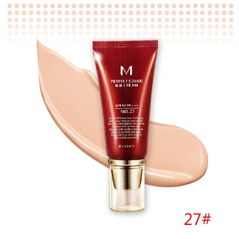 Оригинальная корейская косметика MISSHA M идеальное покрытие BB крем 50 мл SPF42 PA+++(#13,#21,#23,#31) тональный крем для макияжа CC Cream - Цвет: NO.27 Honey Beige