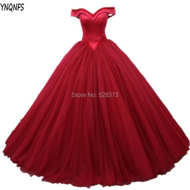YNQNFS W75 imágenes reales princesa bola vestidos de novia Vestido de  fiesta 2019 Vestido de Noiva 5fb1bd720164