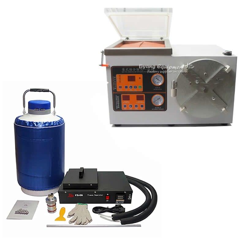Set completo mobile di riparazione lcd OCA macchina di laminazione FS-06 di azoto liquido congelato Separatore Bolla defoamer