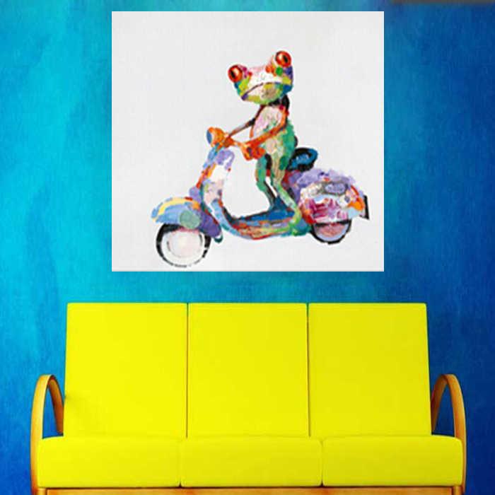 100% Handpainted ציור שמן באיכות גבוהה על בד צפרדע Abstractive יפה קישוטי חדר אמנות תמונה ממוסגרת לא גודל גדול