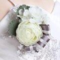 Элегантный Hand Made Шелковый Роуз Корсажи Свадебные Цветы Букет Украшение Партии
