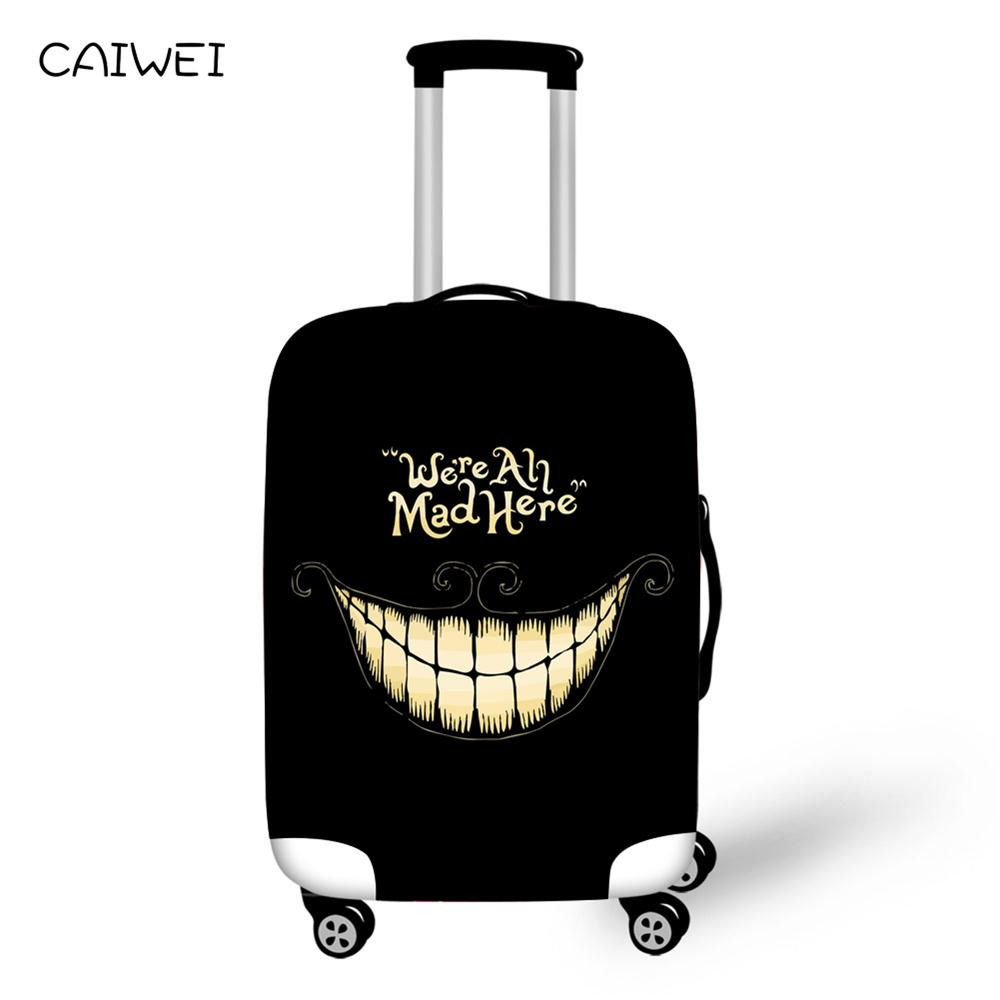 Men Luggage Protective Covers For Travel 18 to 30 Inch Suitcase Cover Punk Death Skull 3D Print Elastic Dust Protection Cover