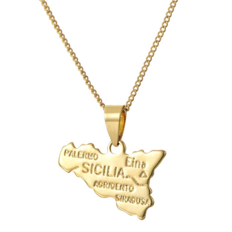 Fashion Jewelry Haiti Map Necklace Pendant Alloy World Maps Necklaces Choker Long Chian Everyday Bijoux For Women Men Gifts