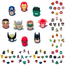 100PCS Avengeres/Batman/Super Mario/Sesame Street/Octonauts PVC Shoe Charms Accessories Fit Bands Bracelets Croc JIBZ,Kids Gift new free shipping 100pcs lot avengers shoe decoration shoe charms shoe accessories fit for bands kids party gift love them