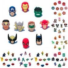 100PCS Avengeres/Batman/Super Mario/Sesame Street/Octonauts PVC Shoe Charms Accessories Fit Bands Bracelets Croc JIBZ,Kids Gift цена
