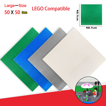 DIY Model Building Bricks Parts Blocks Set 50x50 Large Size Baseplate Plastic Mini Bricks Floors Educational Toys For Children