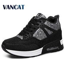 VANCAT 2018 New Leather Shoes Handmade Luxury Brand Tenis Feminino Sapato