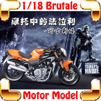 New Arrival Gift Brutale 1/18 Model Motorcycle Vehicle Diecast House Decoration Alloy Collection Metal Present Toys Motor Car