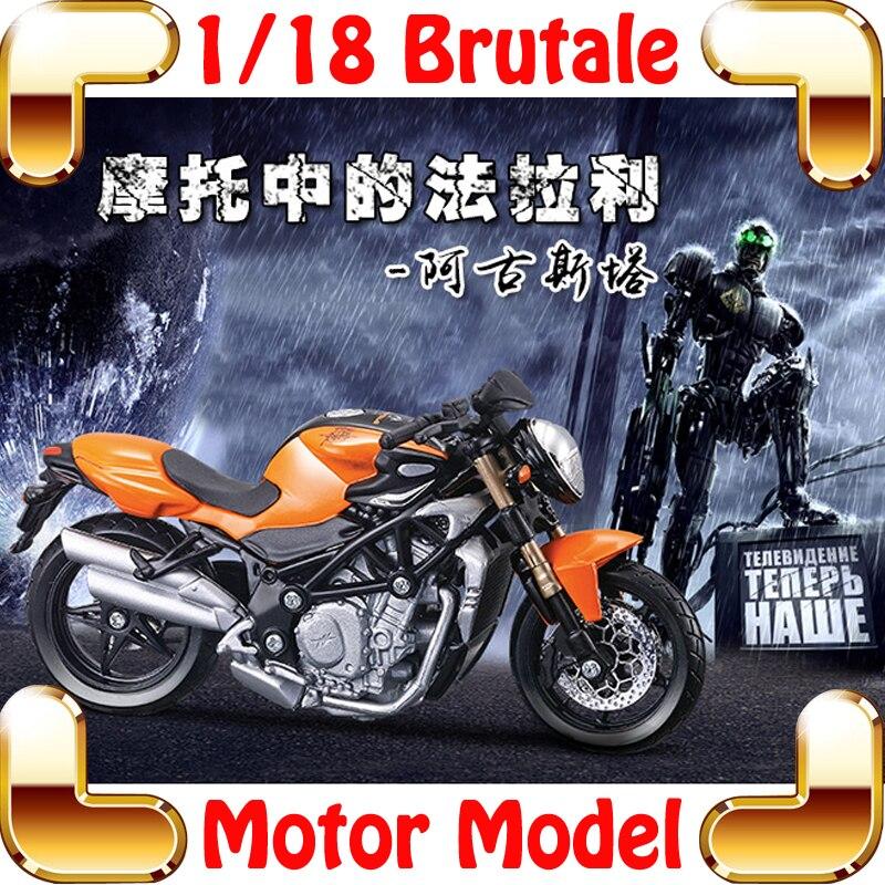 Nouveauté cadeau Brutale 1/18 modèle moto véhicule moulé sous pression maison décoration alliage Collection métal présent jouets voiture