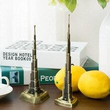 Burj Dubai Harry Khalifa metal craft ornaments world famous landmark model of tourist souvenirs with drill