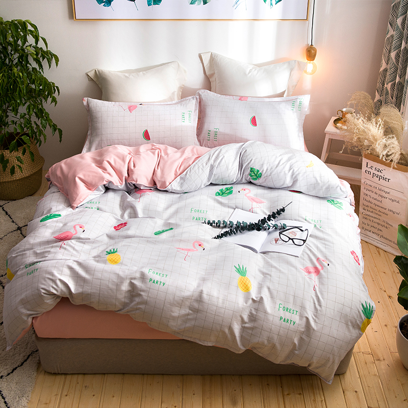 Tropical Plants Palm Leaves Bedding Sets Single Queen King